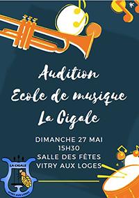 Audition des élèves - Dimanche 27 mai 15h30