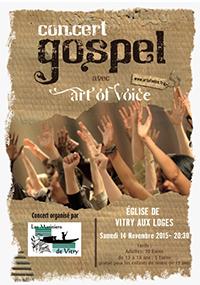 Concert de Gospel à Vitry-aux-Loges le 14 novembre à 20h30